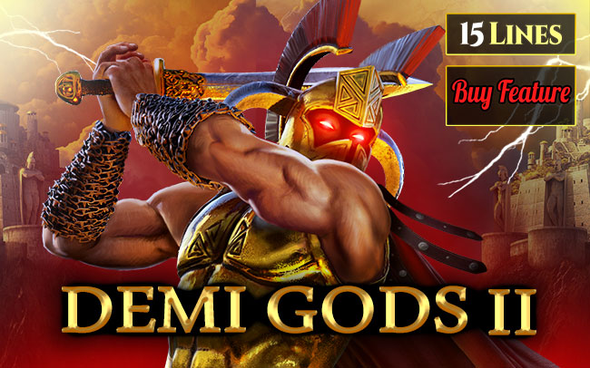 Demi Gods 2 15 Lines Series Game Logo