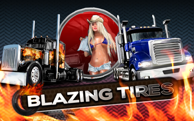 Blazing Tires Game Logo