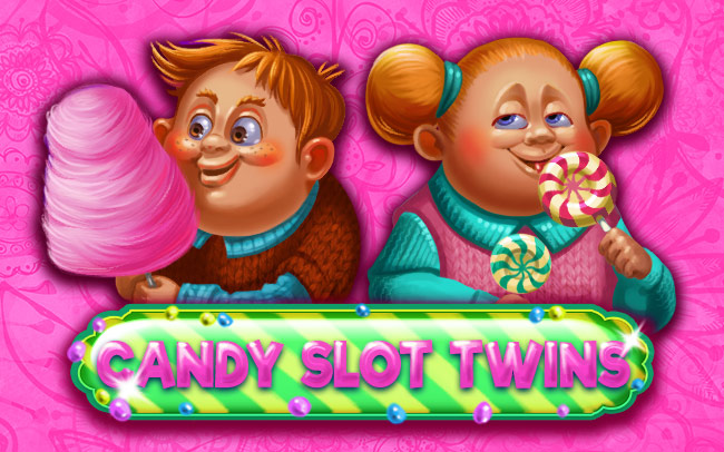 Candy Slot Twins Game Logo
