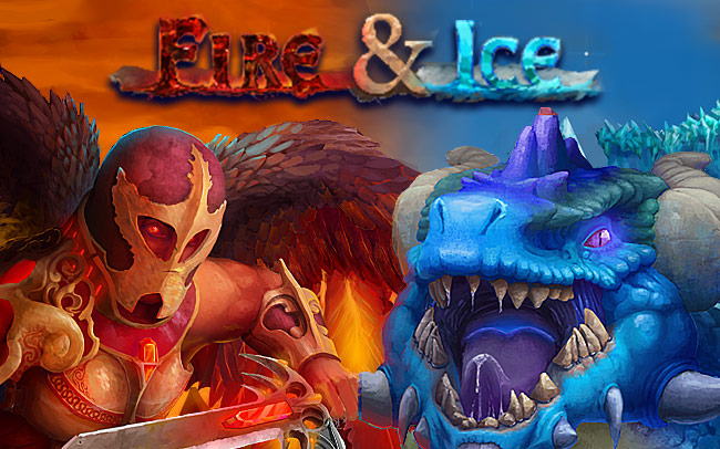 Fire And Ice Game Logo