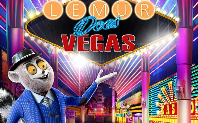 Lemur Does Vegas Game Logo