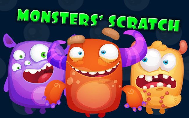 Monsters Scratch Game Logo