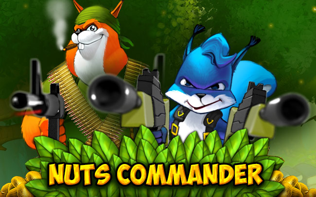 Nuts Commander Game Logo