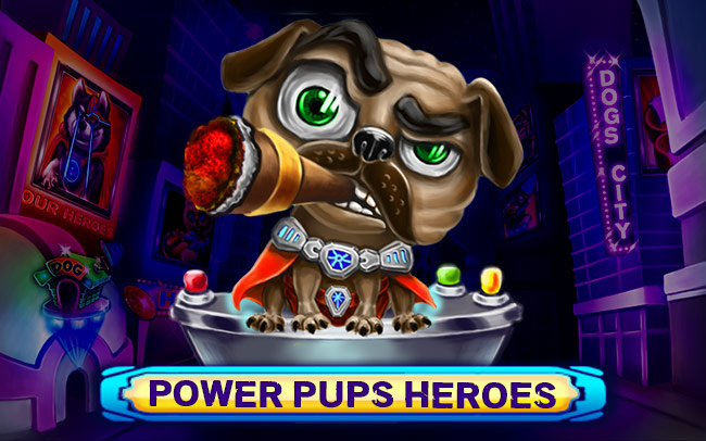Power Pups Heroes Game Logo