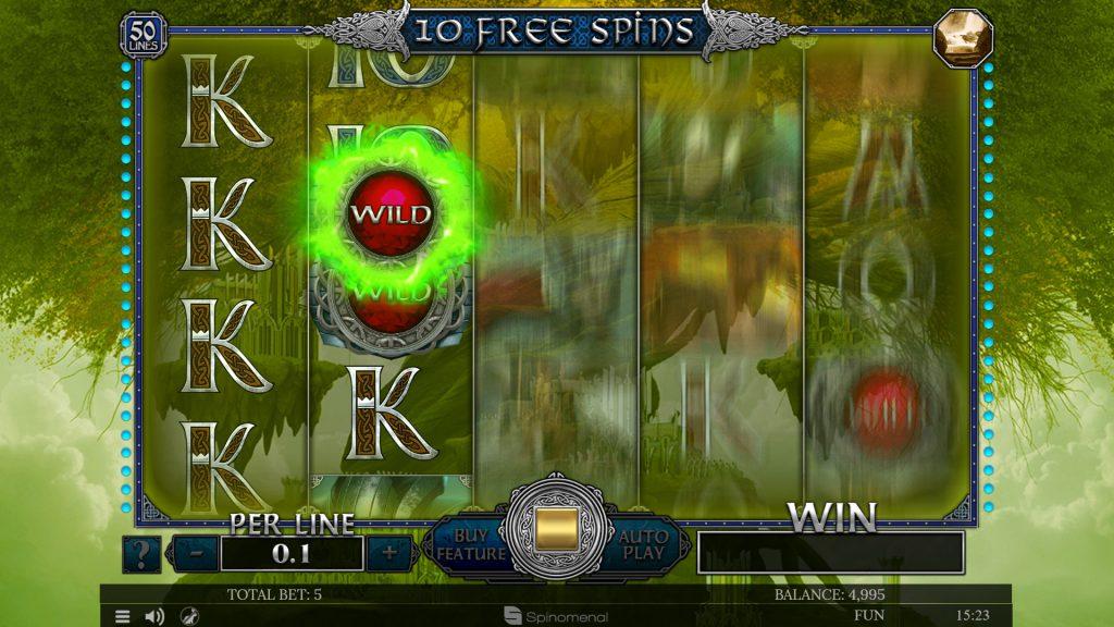 Free Spins Alfheim - Sticky wild feature
