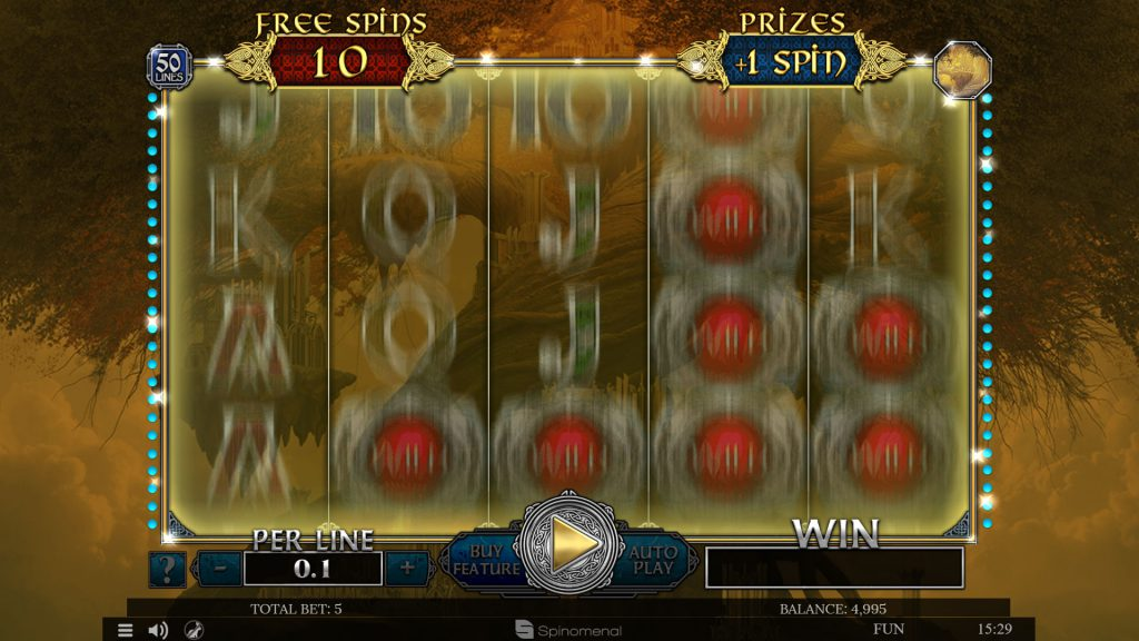 Free spins Asgard - Prize box feature