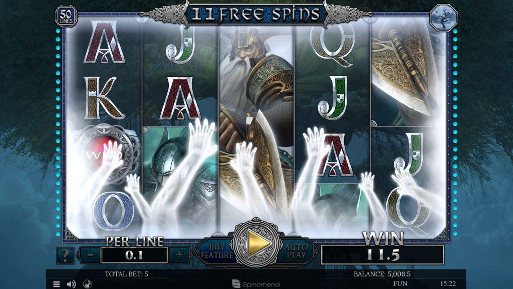 Free spins Helheim - Guaranteed wins feature
