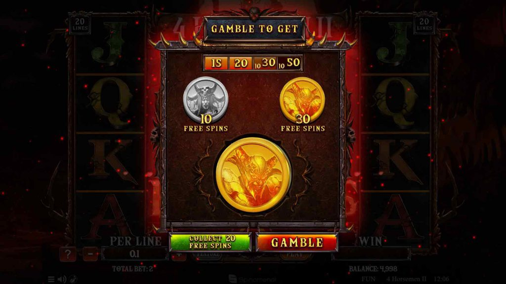 Free Spins Gamble Feature