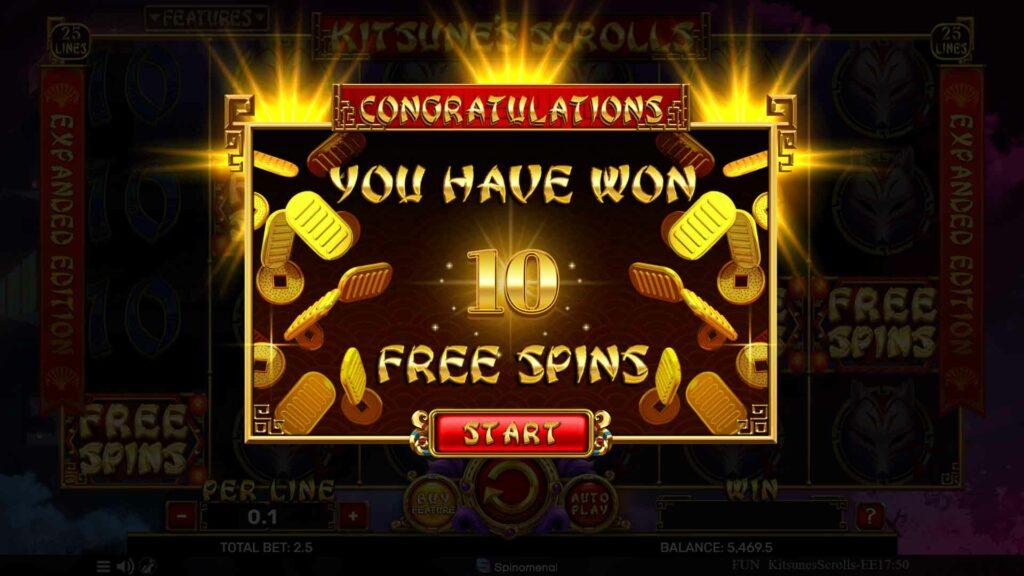 Free Spins Winnings
