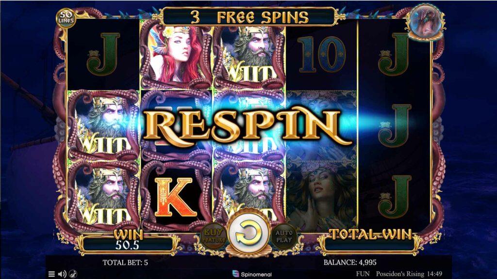 Winning symbols Re-Spin