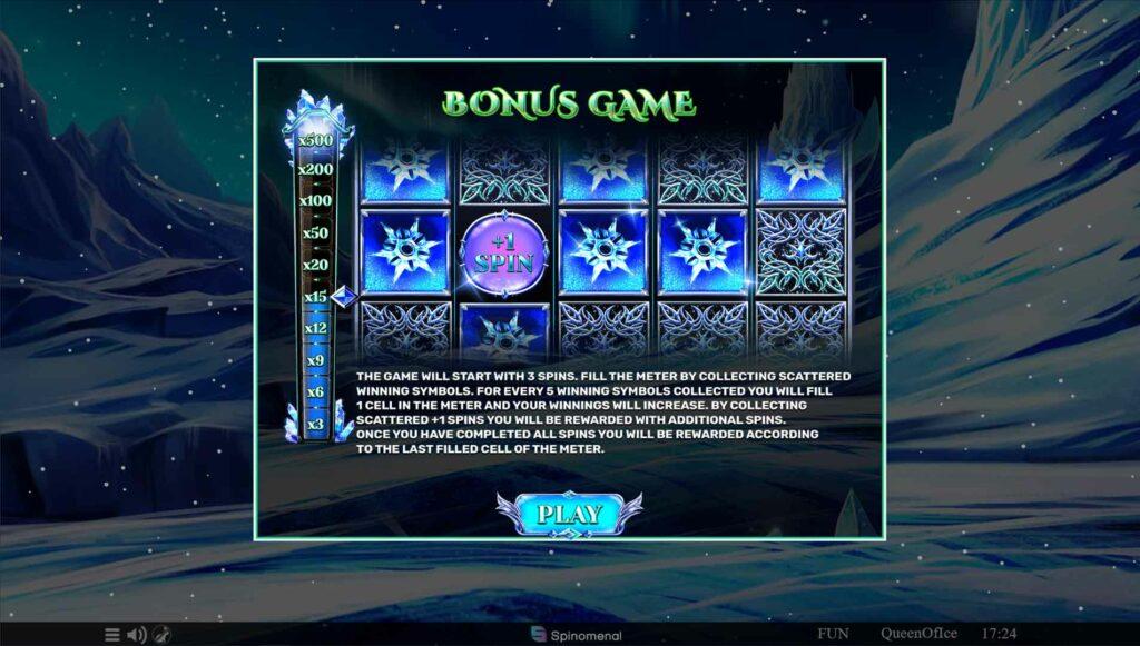 Bonus game play