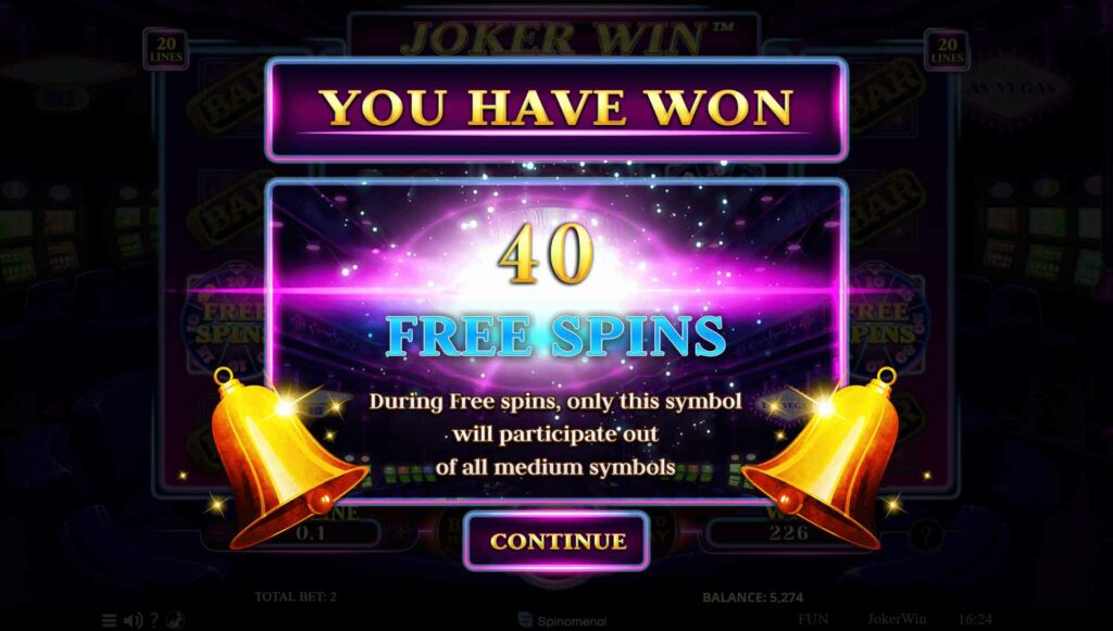 Win 40 Free Spins