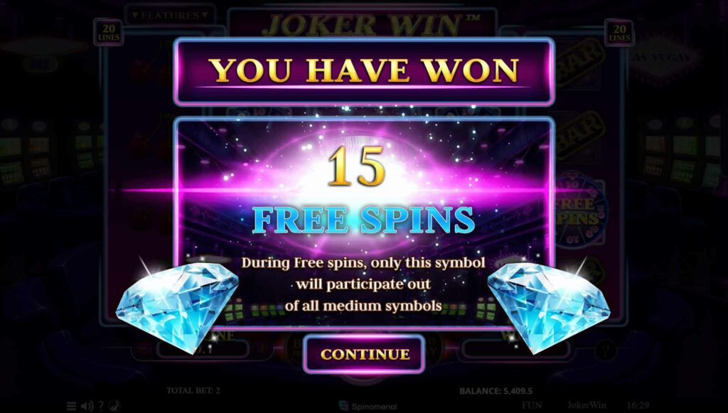 Win 15 Free Spins